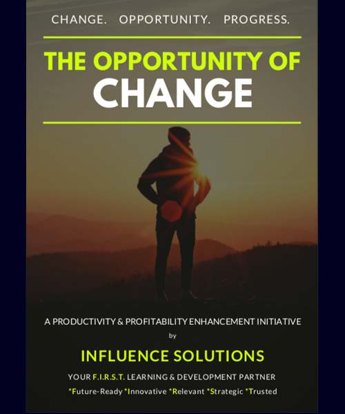 THE OPPORTUNITY OF CHANGE (Available as a LIVE webinar)