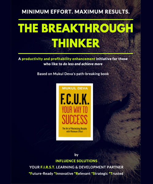 THE BREAKTHROUGH THINKER (Available as a LIVE webinar)